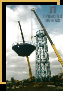 установка водонапорной башни