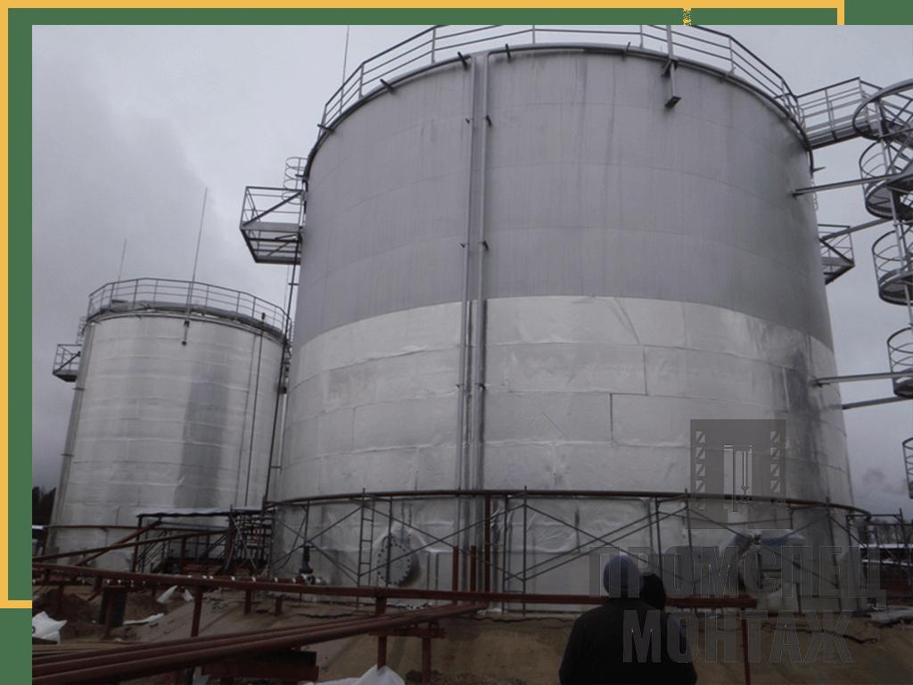 Монтаж металлоконструкций резервуаров