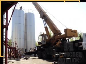 Монтаж вертикального стального резервуара