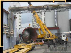 Монтаж стальных вертикальных цилиндрических резервуаров